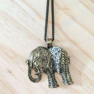 🐘 Antique Gold elephant chain